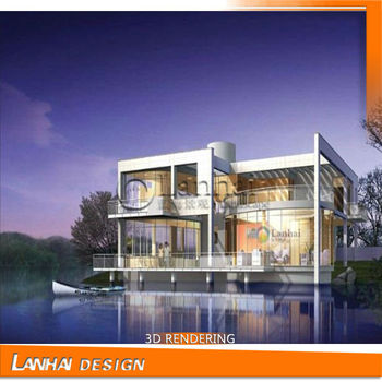 Villa Front Elevation Drawing House Plan