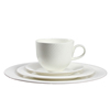 Pure White Ceramic Dinner Charger Plate / Western Dinnerware Table Set For Hotel