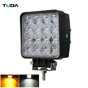 4.3 Inch Double Color White Yellow 48w Auto Square LED Driving Work Light