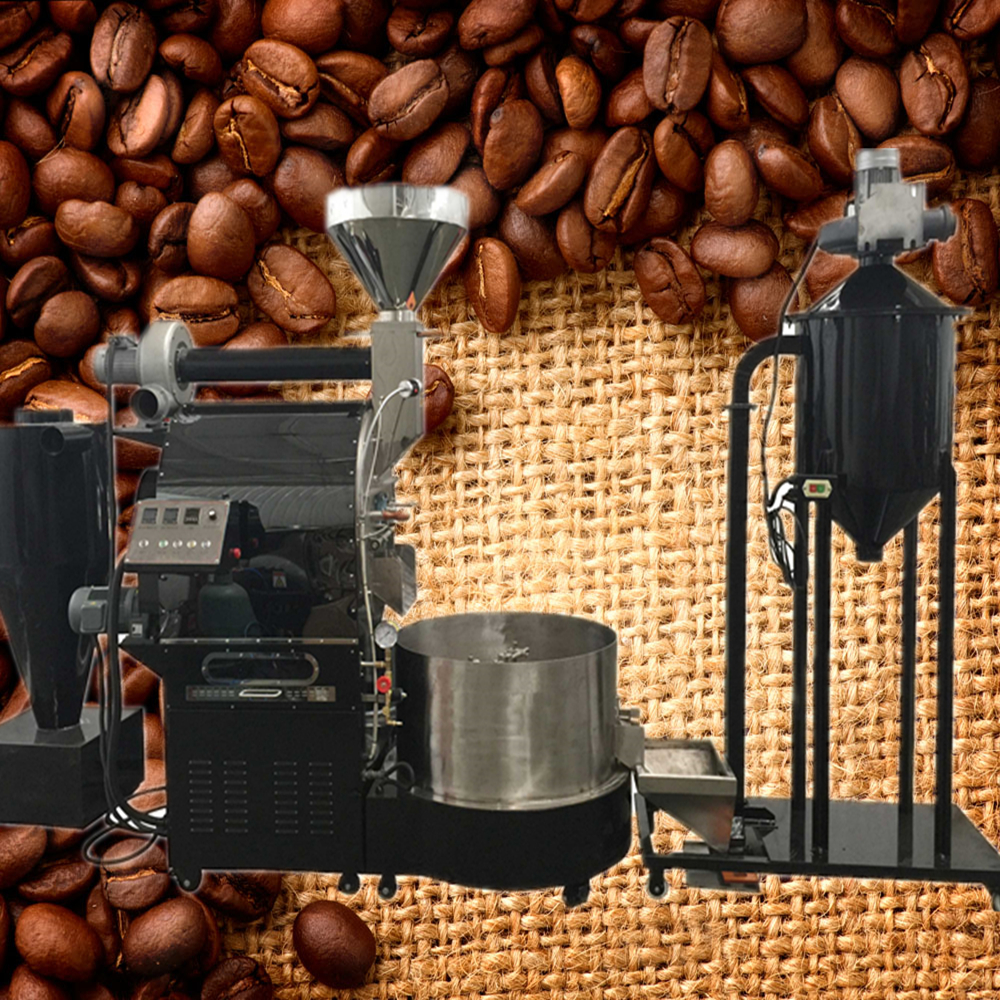 100kg 120kg Price Commercial Coffee Roaster Machine Cocoa Beans ...