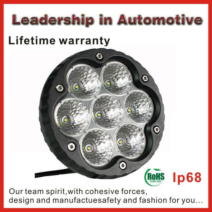 High bright 35 LED WORKING LIGHT for Truck High Power IP68 Car Led Motorcycle OffRoad Led Work Light lamp,24V led light bulb