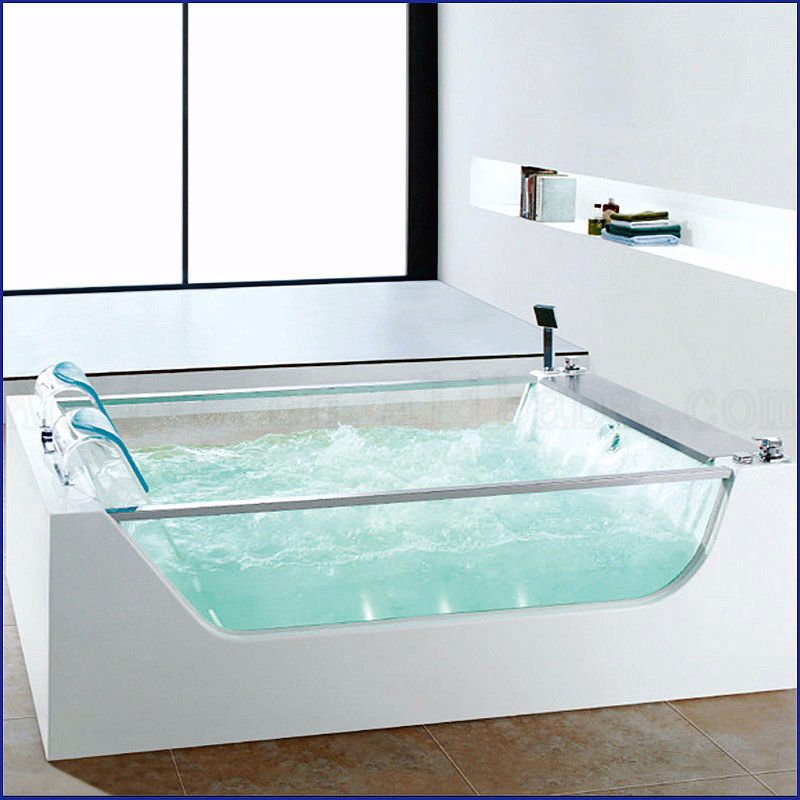Hot Sale Freestanding Acrylic Bath Tub With Tv And Glass ...