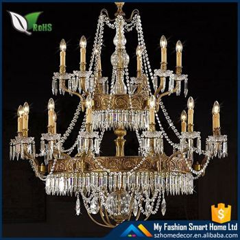 European Style luxury Chandelier creative living room chandelier, Large Zinc Alloy crystal chandelier pendants lights ZH-8006