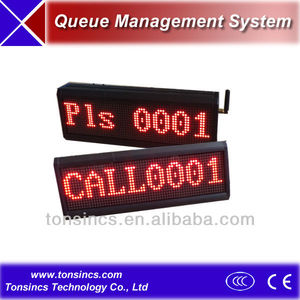 Tonsincs Queue Token Number Dot Matrix LED Counter/Teller Display
