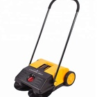 550mm width cleaning wet and dry ground manual push sweeper