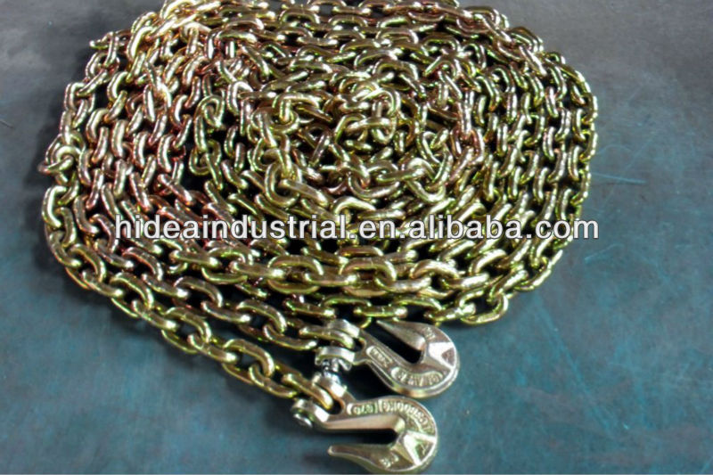 Transport Tie Down Chains With Clevis Eye Grab Hooks