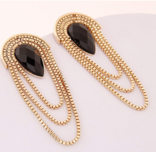 Fashion imitation jewelry earrings women diamond jewelry