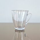 Stocked feature Crystal clear coffee glasses with handle