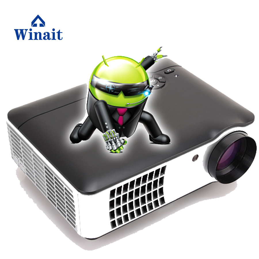 High quality 2800 lumens Android mini projector 1280*800 resolution support 1080p with manual focus lens
