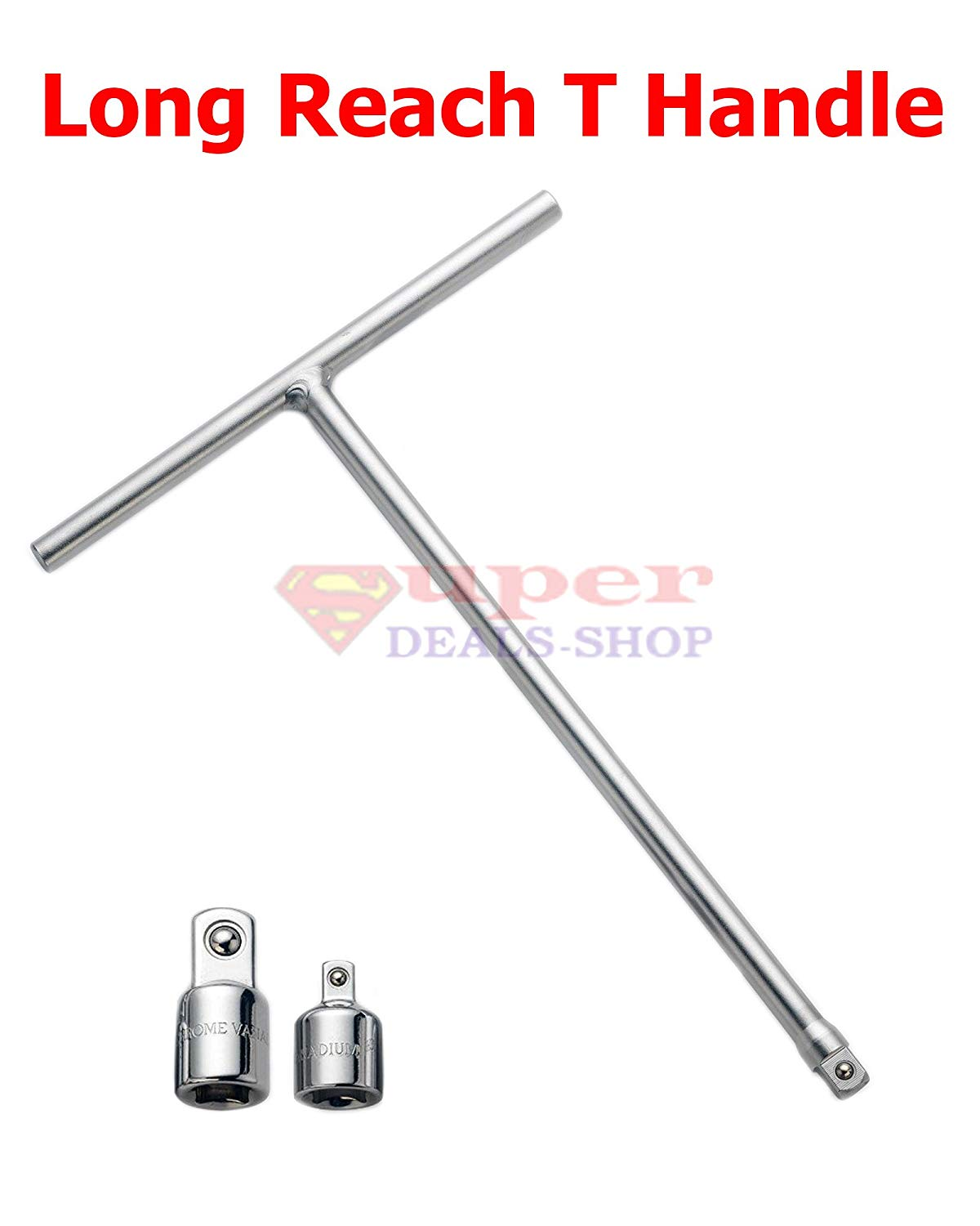 "Drive T Handle Wrench Torque CRV Socket Extension Long Reach T-Handle 3/8"" 1/4"" 1/2"" Super-Deals-Shop"