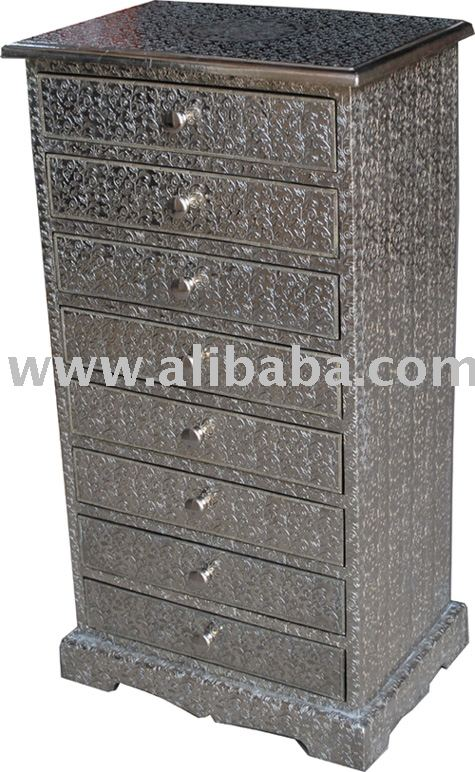 Embossed Metal Tall Boy 8 Drawer Furniture   Buy White Metal Furniture  Product On Alibaba.com