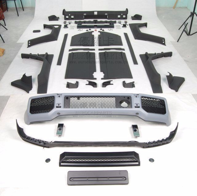 G-class body kit/bumper set for MB G W463 G55 G500 G63 G65 2011~2015y to 2016 G800 B-style brand new look tuning set