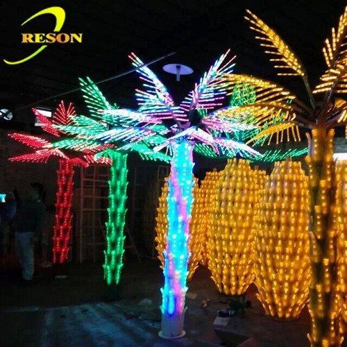LED lighting color changing leave bonsai tree