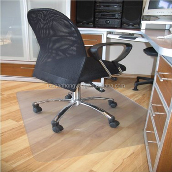 Clear Non Slip Grips Chair Floor Protector Mat For Chairs , 1800x 3000 Mm