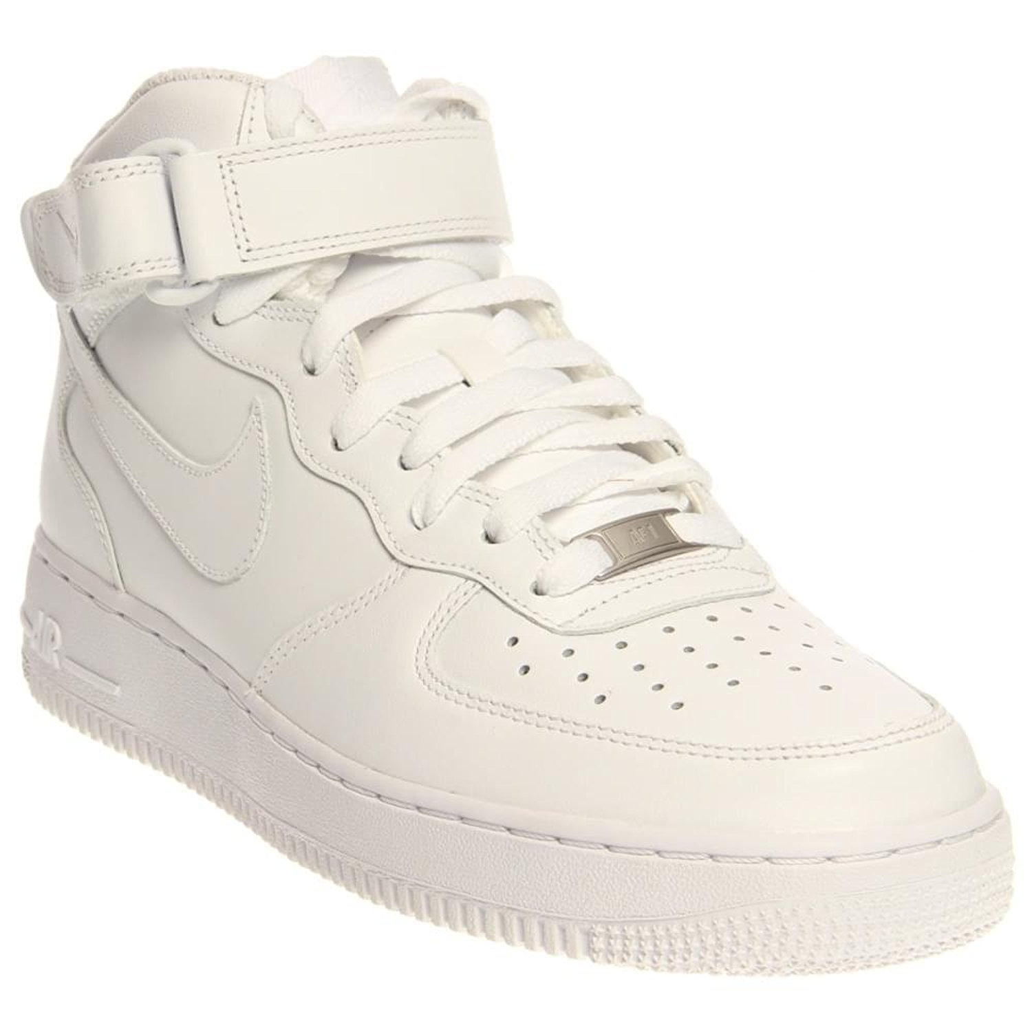 uk availability 39a5e 92b89 Get Quotations · Nike Mens Air Force 1 Mid 07 Basketball Shoes White White  315123-111 Size