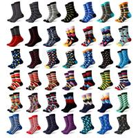 Wholesale Hundreds Styles Novelty Solid Stripe Polka Dot Camouflage Weed Men Socks Colorful Happy Socks Men Dropshipping