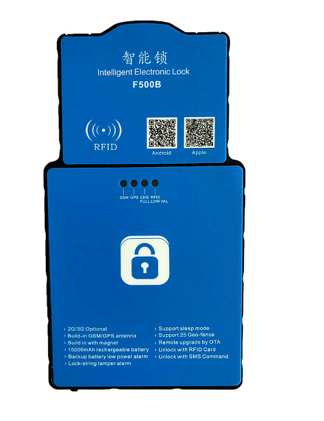 Smart Lock GPS Padlock For Cargo Container Gates Receive Real-time Location on Your Phone