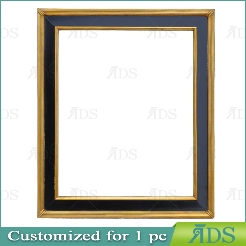 Painting frame ADS010024 gold/black wood frame