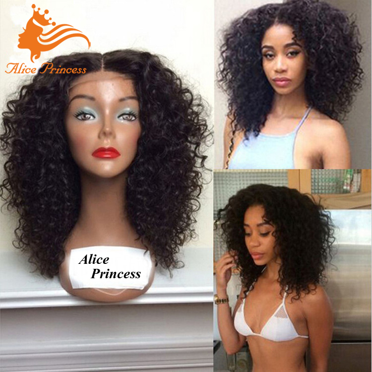 Indian Human Hair Wigs for Black Women Lace Front Dreadlock Wig Virgin Hair  Glueless Human Wig Curly Hair For Black Women 9396a9971
