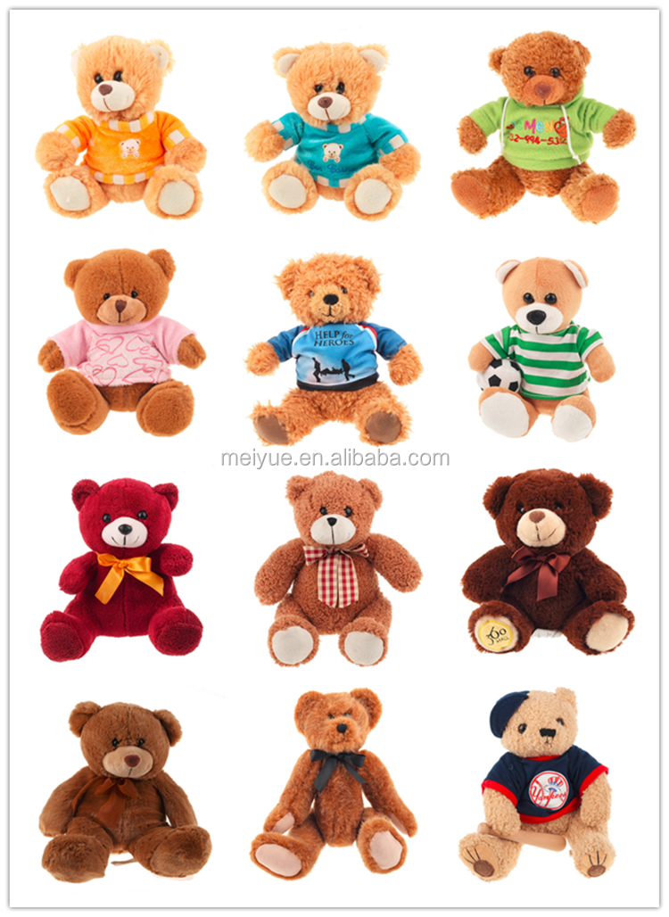 Custom design plush soft toy bathrobe bear
