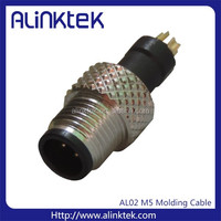 M5 pre-mold waterproof connector with cable 3Pins