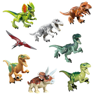 Creative Plastic Dinosaur Small Blocks Toys 8 style Children's Early Learning Puzzle DIY Toy