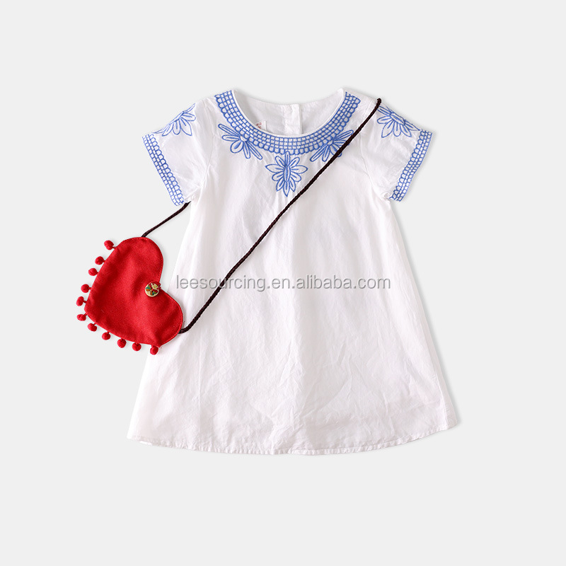 Wholesale 2017 China Supplier Girls Children Plain Dresses Of Kid Clothes