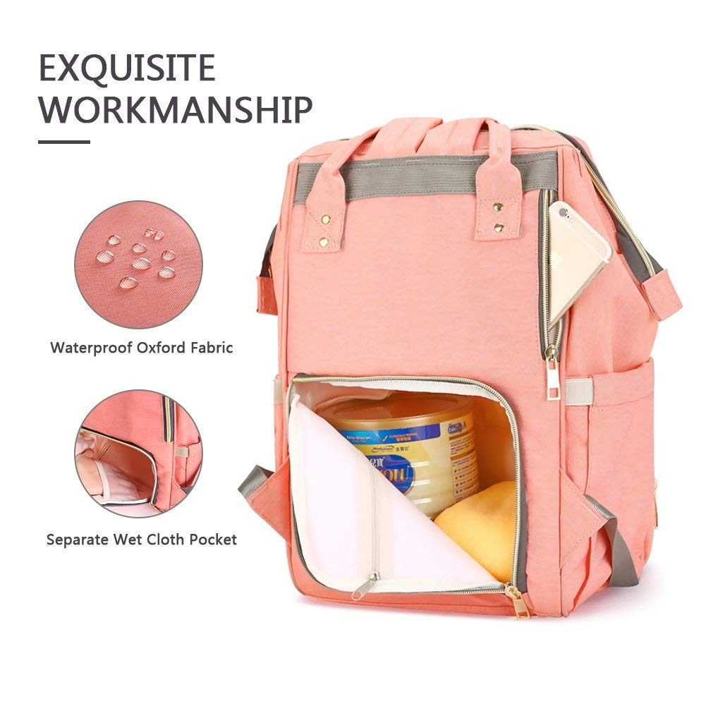 Durable Multi-Function Waterproof Travel Backpack Nappy Bag Mother Baby Diaper Bag