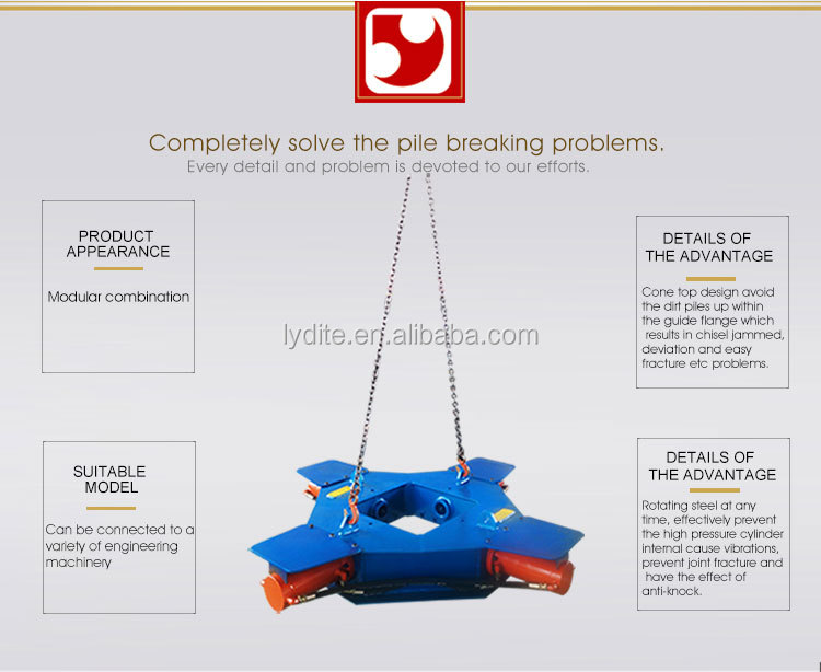 Pile cutting machine hydraulic concrete pile breaker and square pile cutter for dale