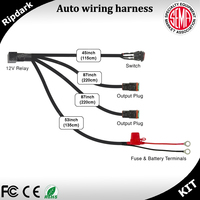Automotive wire harness with DT connector, car wire harness for led light bar, work light