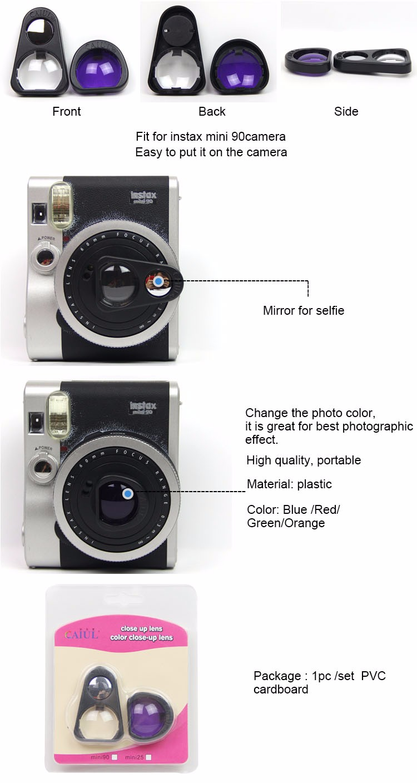 Fuji Fujifilm Instax Mini 90 Instant Camera Selfie Mirror Close Up Lens Colours Filter Set Buy Instax Mini 90 Camera Filters Colours Camera Filters Set Camera Selfie Mirror Product On Alibaba Com