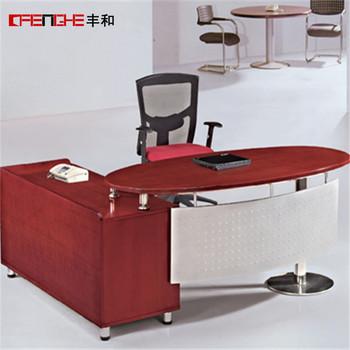 Design De Mobilier De Bureau Moderne De Forme Ovale Table Bureau ...