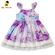 Fashion Frock Design One Pieces Flower Dress Lace Party 3 Year Old Girl Dress