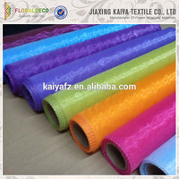 Wedding decorations design colorful cheap organza fabric roll