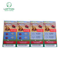 Pull tabs lottery ticket full color printing