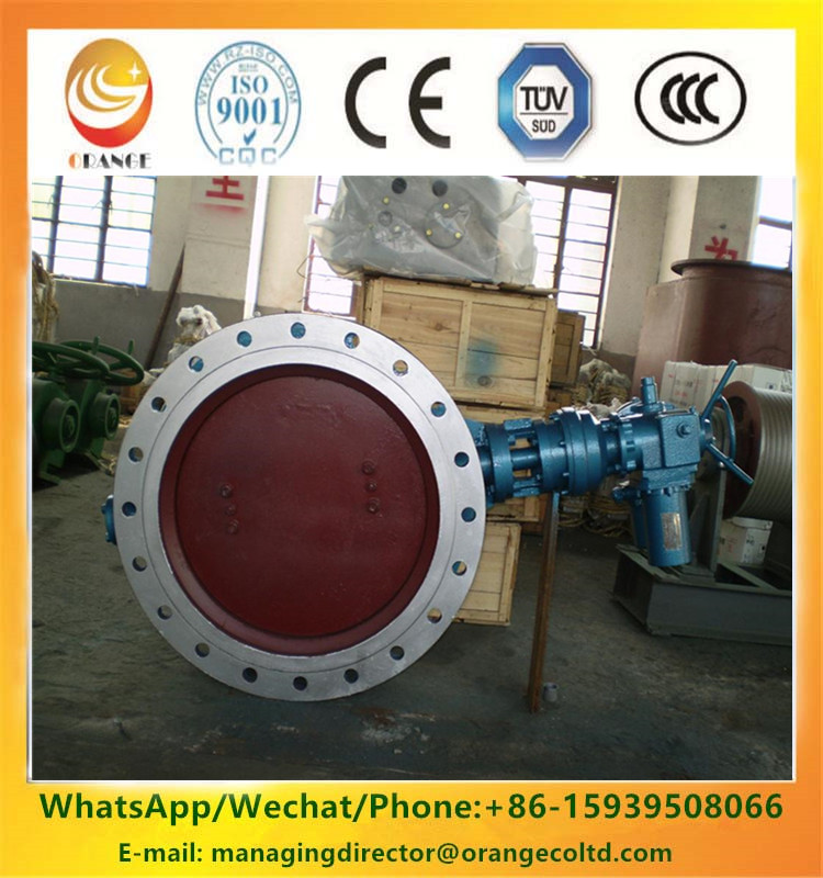 Best price soft rubber seal Double Eccentricity Butterfly Valve in India
