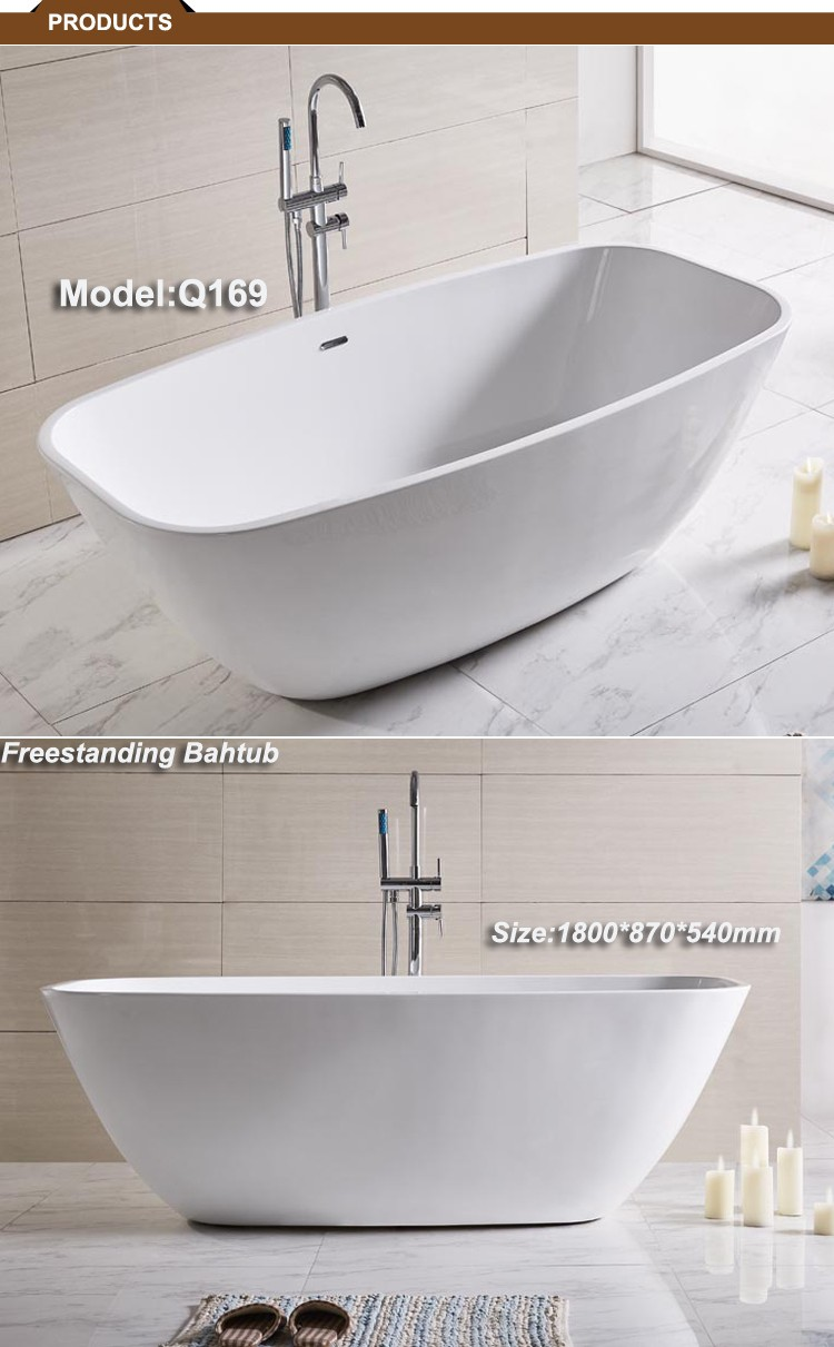 Q169 Acrylic Baths Freestanding Shallow Bathtub - Buy Freestanding ...
