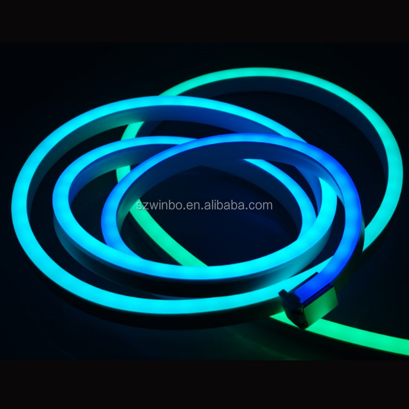 High bright hot selling for <strong>RGB</strong> color LED Neon Flexible Soft Neon With Seven Changing Colors/<strong>RGB</strong> LED
