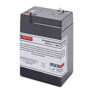 Diamec DM64 Battery - Replacement UB645 Universal Sealed Lead Acid Battery (6V, 4.5Ah, 4500mAh, F1 Terminal, AGM, SLA)