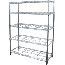 NSF approved chrome metal wire shelves for wine