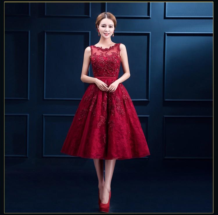 54b605e989 Rojo encaje sin mangas hasta la rodilla vestido de cóctel para las mujeres  gordas