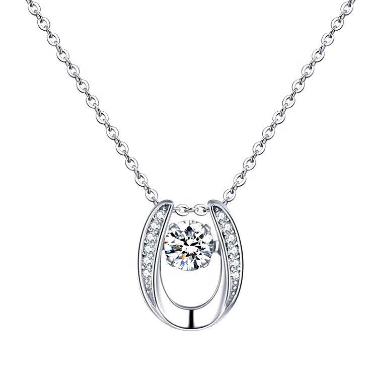 CZ pendant necklace jewelry sterling <strong>silver</strong> 925