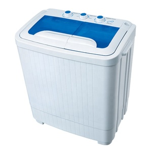 Double tub mini washing machine with dryer 5kg