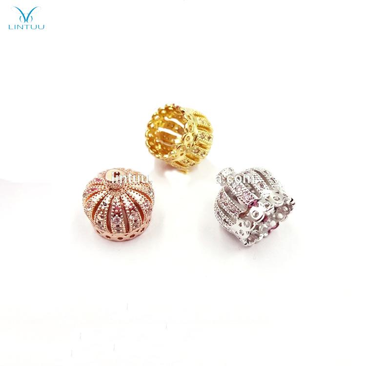 20pcs Drip oil Crown pendant earrings necklace DIY Handmade making accessories
