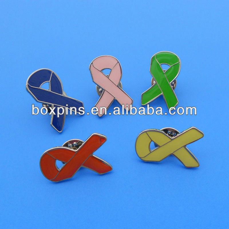 World Ovarian Cancer Day Aqua Color Ribbon Pin Brooch