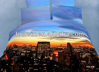 king queen full twin size 3D print bedding sets building bed linens duvet cover pillow case cushion bedclothes 3d