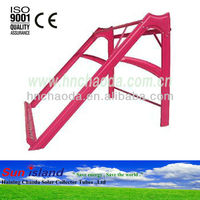 Red Color Solar Water Heater Precoated Powder Galvanized Steel Stand / Bracket/ Support