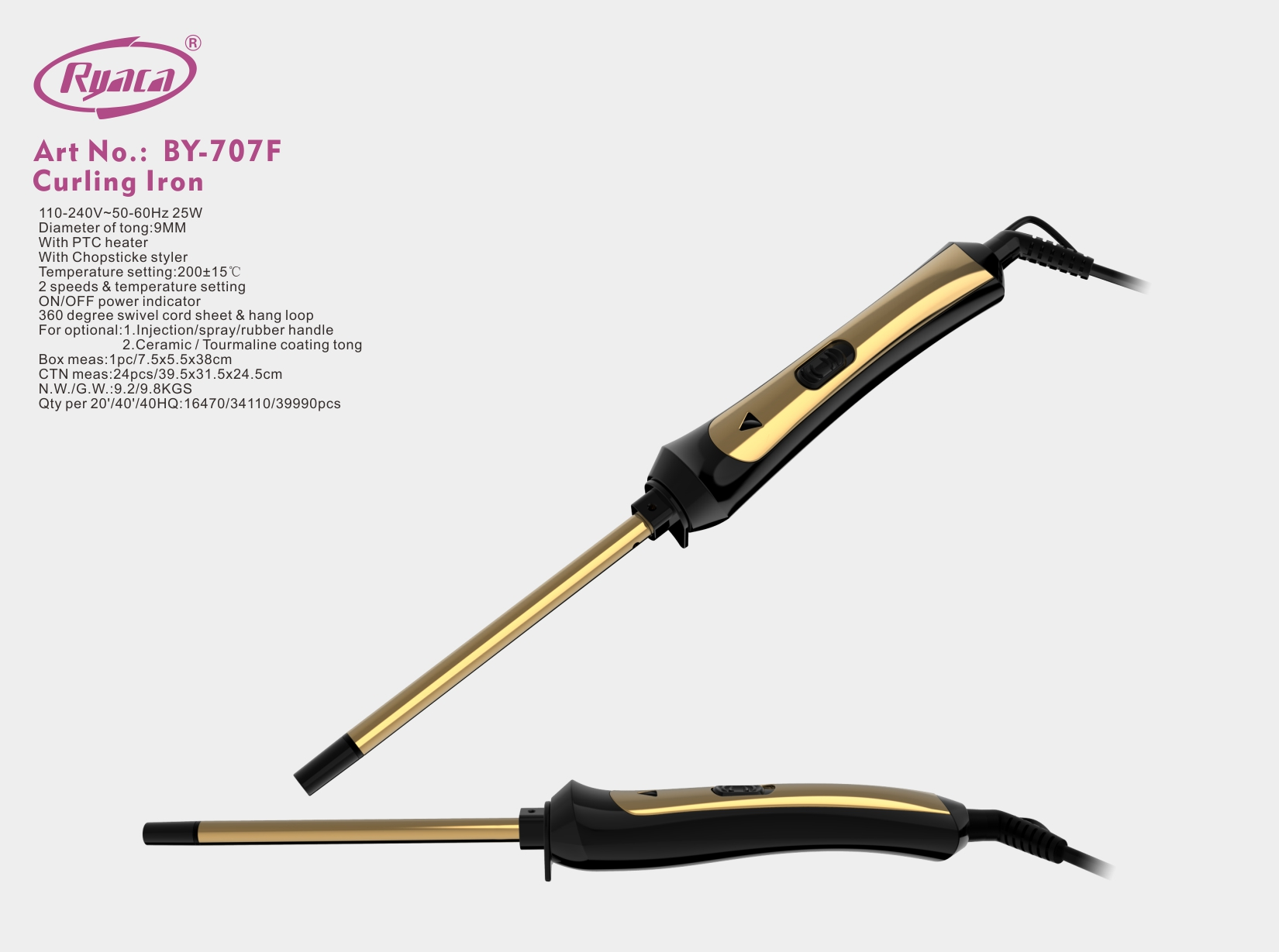 Private Label Automatic Rotating Chopstick Hair Curler Curling Iron - Buy  Automatic Curling Iron,Curling Iron Private Label,Rotating Curling Iron