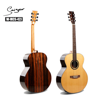 W-MCS-42J good price wood guitar import Jumbo acoustic guitars china wholesale musical instruments
