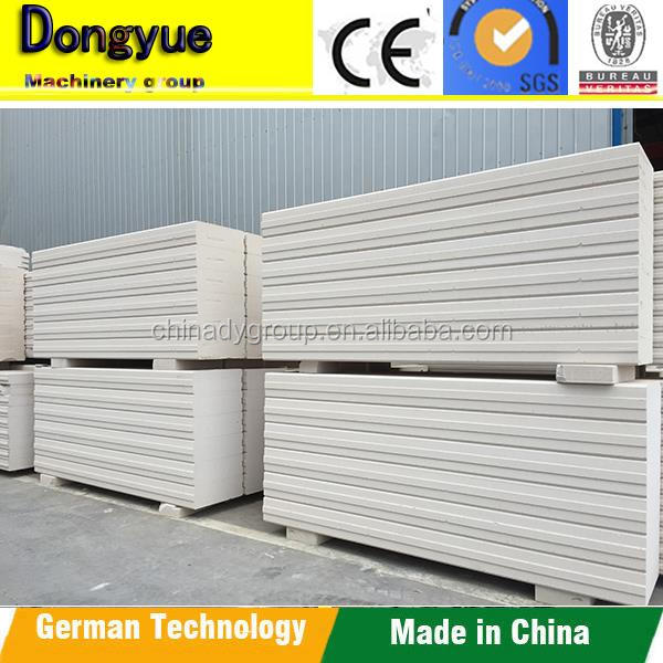 Top quality aac alc partition panel price/interior prefabricated house with alc panel